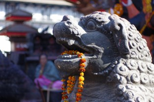 Népal Statue collier de Fleur